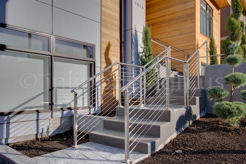 stainless steel cable railing square posts