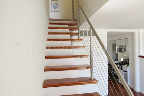 stainless steel cable railing up