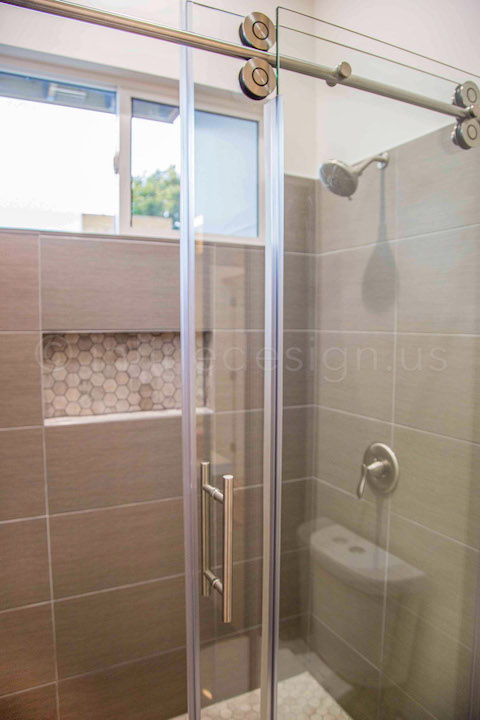 glass sliding door shower