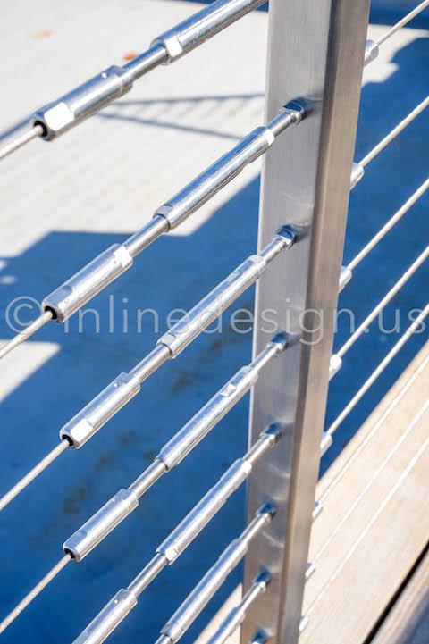 beautiful cable post railing