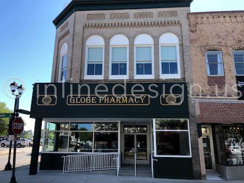 commercial storefront railing