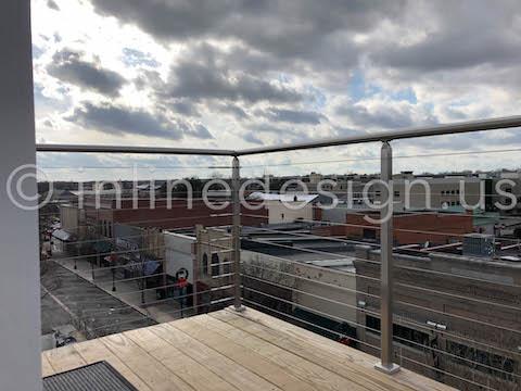 corner roof cable railing