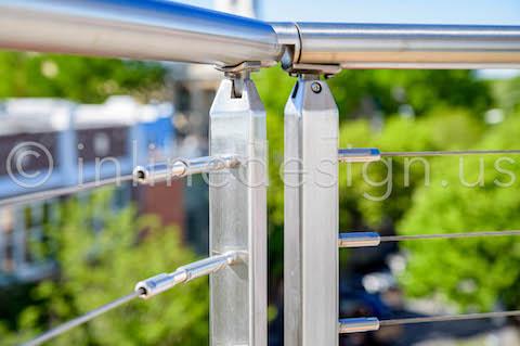 deck exterior cable handrail