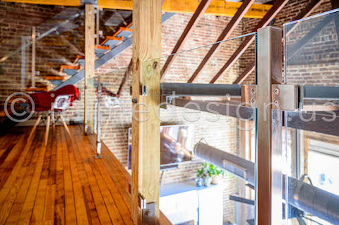 deck railing square glass