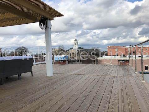 exterior roof deck guardrail
