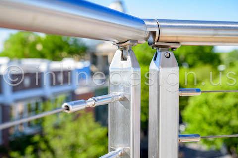 exterior roof railing square