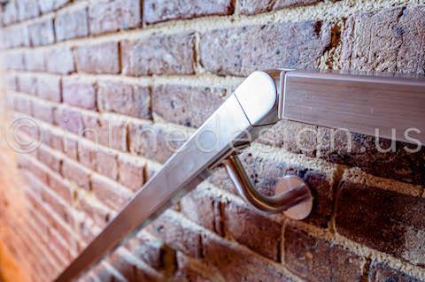 flush angle railing down