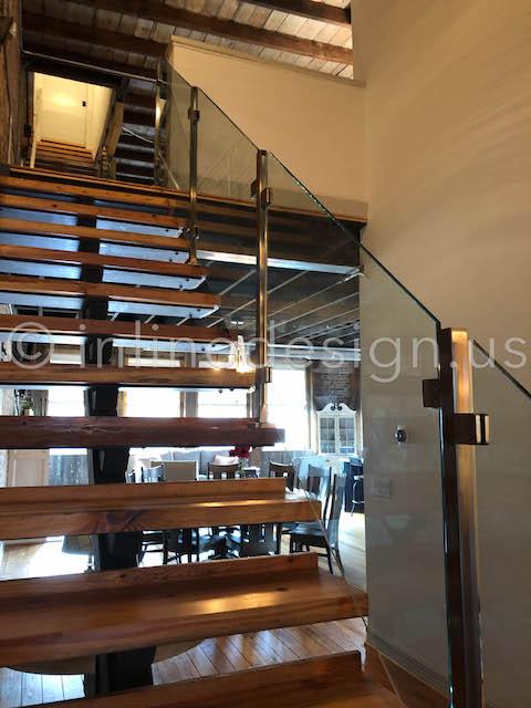 front view glass loft guardrail