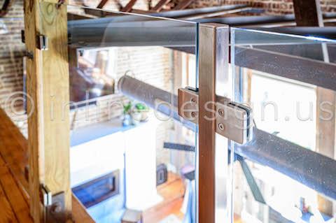 glass railing landing