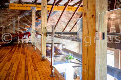 loft deck railing glass