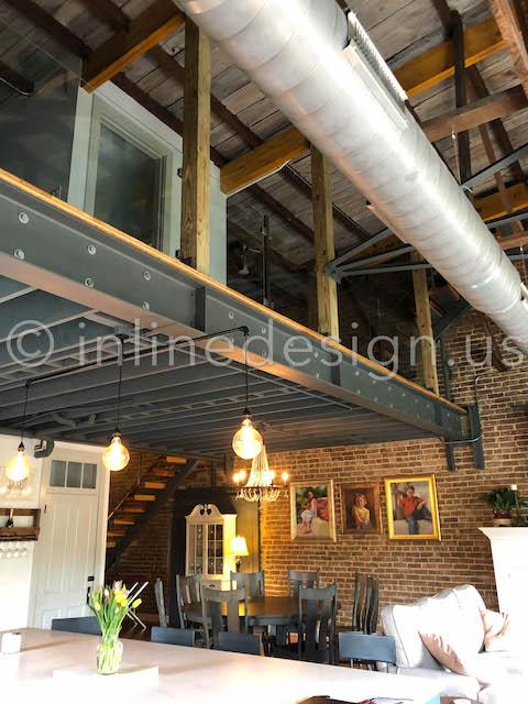 loft glass railing interior