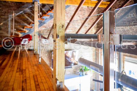 loft glass railing square