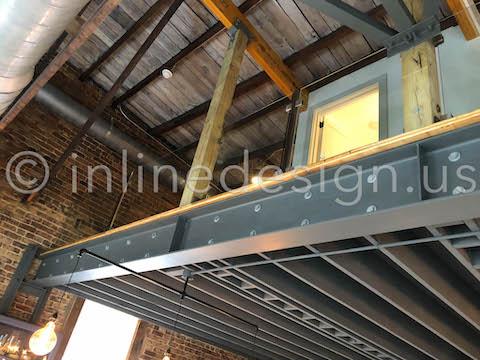 loft low view railing interior