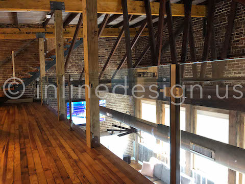 loft railing glass guardrail