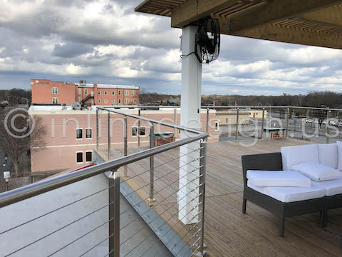outdoor roof top cable railing