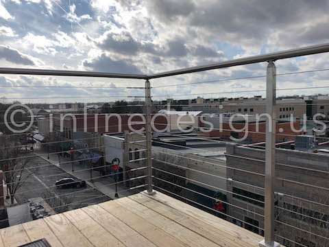 outdoor roof top railing cable