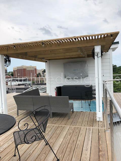 patio exterior deck railing