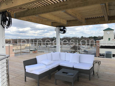 roof outdoor deck patio railing