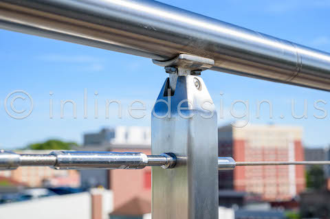 roof railing exterior cable