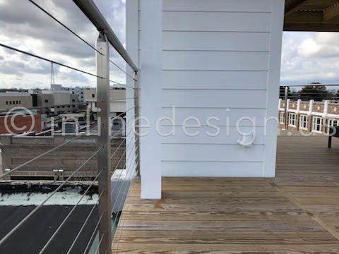 roof square cable railing