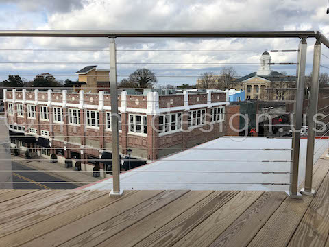 roof top railing cable