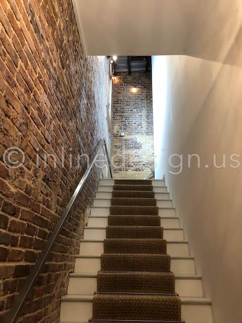 stairs handrail internal corridor