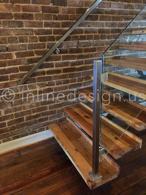 stairway entry glass railing