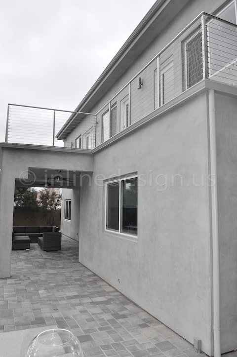 stainless steel railing square balcony