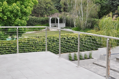 stainless steel railing square california