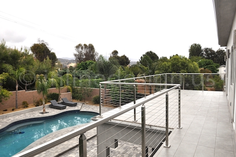stainless steel railing square post california