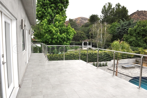 stainless steel railing square post outdoor