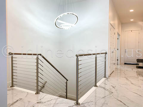 beautiful cable railing landing