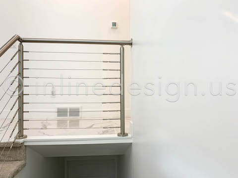 landing handrail cable railing