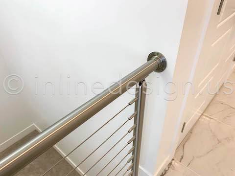 wall end cable railing