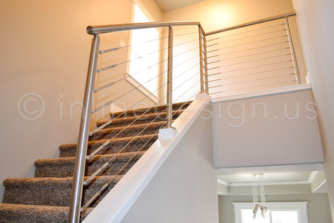 stairwell cable railing